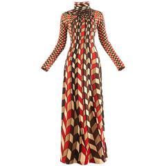 Roberta di Camerino 1976 jersey geometric scarf print maxi dress
