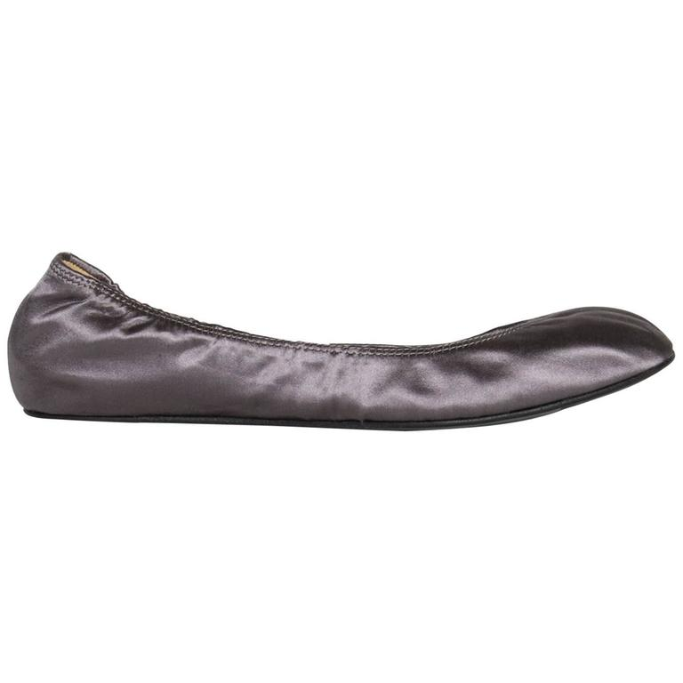 Lanvin Mauve Sateen Ballerina Shoes