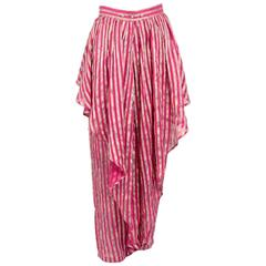 Kenzo 1980s Silk Striped Trousers