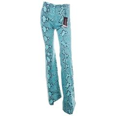 Tom Ford Gucci Python Print Flare Pants