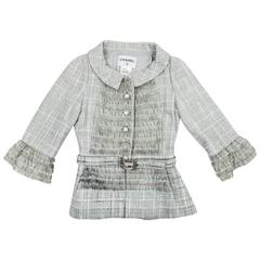 CHANEL Cruise collection 'Paris-Versailles' Vest Size 38FR in Light Green Tweed