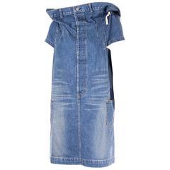 Comme Des Garcons Junya Watanabe Avant Garde Rare Denim Skirt Dress