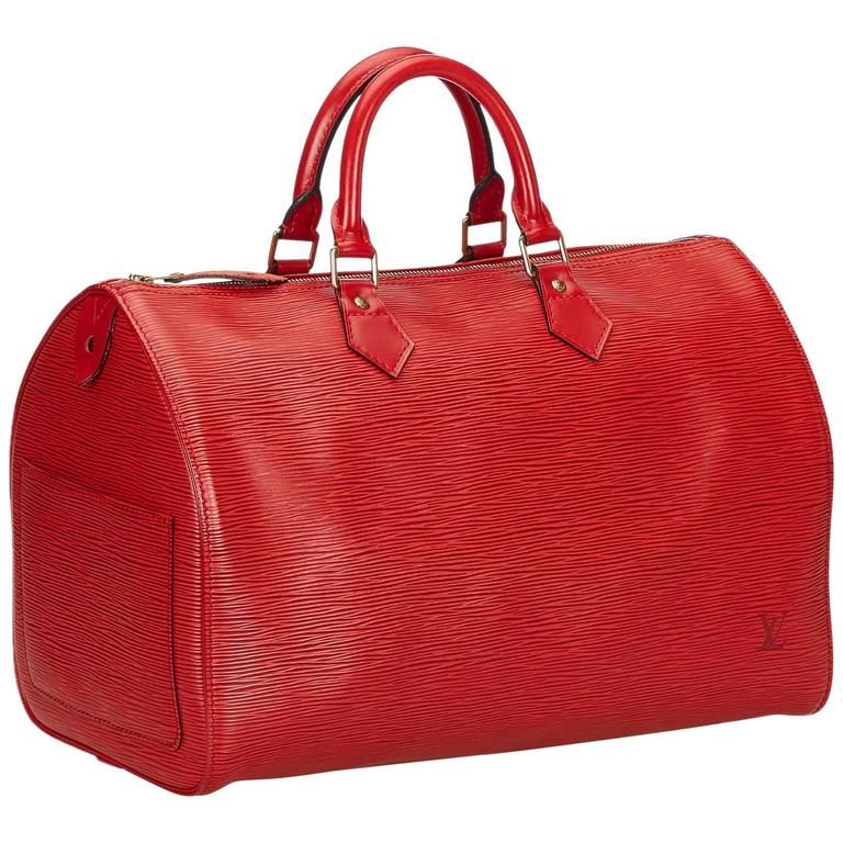 Louis Vuitton Red Epi Speedy 35 Handbag at 1stdibs 98ce009d9