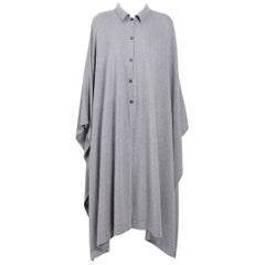Vintage Angelo Tarlazzi Cashmere Mix Grey Cape