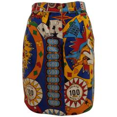 Moschino Pinball print Vintage Skirt