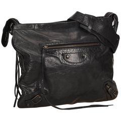 Balenciaga Black Motorcross Day Messenger Bag