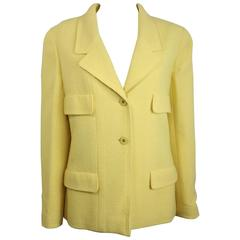 Chanel Yellow Boucle Wool Jacket