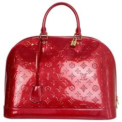 Louis Vuitton Pomme d'Amour Red Monogram Vernis Alma GM Bag
