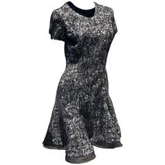 Dior Black and White Tweed Dress