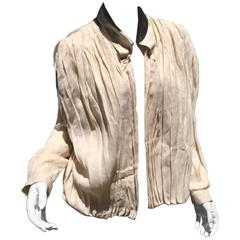 Claude Montana Linen Open Front Top