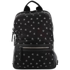 Lanvin Backpack Printed Nylon with Leather