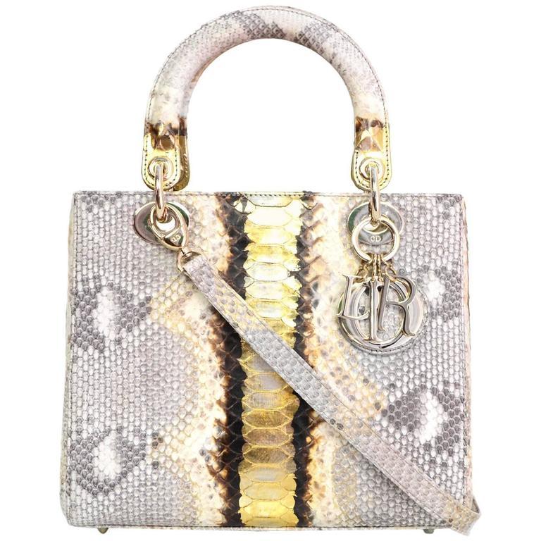 Christian Dior NEW Python Medium Lady Dior Bag rt.  8 136e70dc6e9fa