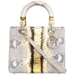 Christian Dior NEW Python Medium Lady Dior Bag rt. $8,600