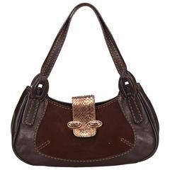 Tods Brown Python Leather Handbag