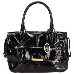 Tods Black Patent Leather Shoulder Bag