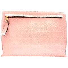 Loewe Pink Lambskin Leather Clutch