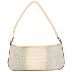 Ferragamo Brown Embossed Leather Shoulder Bag