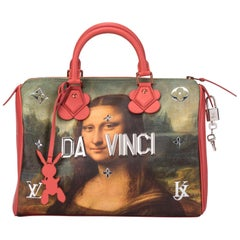 New in Box Vuitton Masters Mona Lisa Jeff Koons Speedy 30 Bag