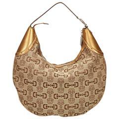 Gucci Brown Jacquard Shoulder Bag