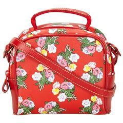 Kenzo Red PVC Floral Handbag