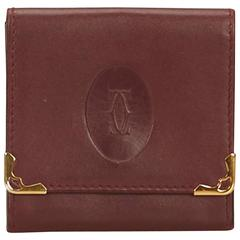 Cartier Red Leather Must de Cartier Coin Pouch