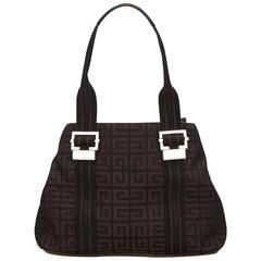 Givenchy Brown Jacquard Tote Bag