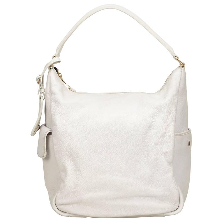 Ysl White Leather Shoulder Bag For Sale At 1stdibs