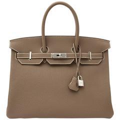 Hermès Birkin 35 Togo Etoupe PHW