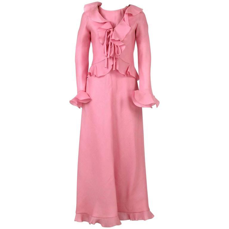 1970s Stop Senes Pink Dress Suit
