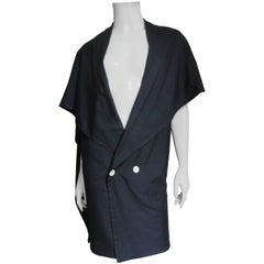 1980s Yohji Yamamoto Drape Back Silk Jacket