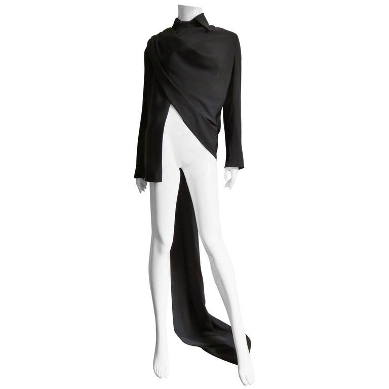 Yohji Yamamoto Wrap & Drape Silk Jacket