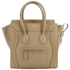 Celine Luggage Handbag Smooth Leather Micro