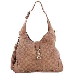 Gucci New Jackie Handbag Guccissima Leather Medium