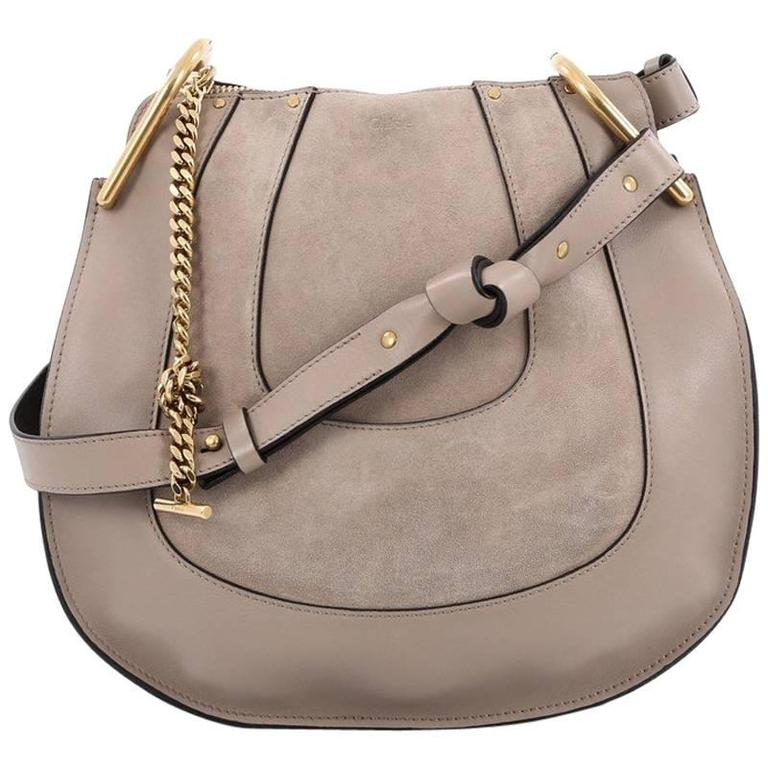 Chloe Hayley Hobo Leather and Suede Small