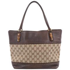 Gucci Laidback Crafty Tote GG Canvas and Leather Medium