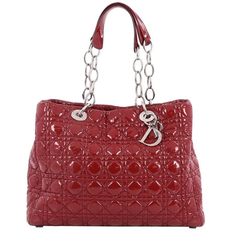 Christian Dior Soft Chain Tote Cannage Quilt Patent Large at 1stdibs 300eec2043b1a