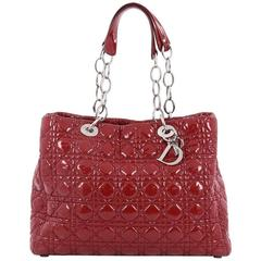 Christian Dior Soft Chain Tote Cannage Quilt Patent Large