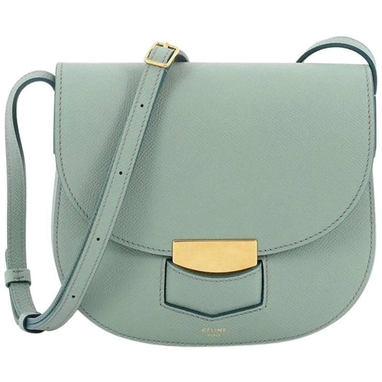 a33193a83bfe Celine Trotteur Lock Crossbody Bag Grainy Leather Small at 1stdibs