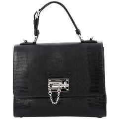 Dolce & Gabbana Monica Handbag Lizard Embossed Leather Medium