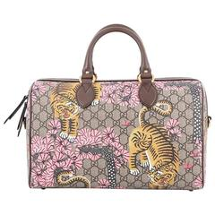 Gucci Boston Bag Bengal Print GG Coated Canvas Medium
