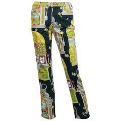 Moschino Vintage 1990s Slot Machine Print Trousers
