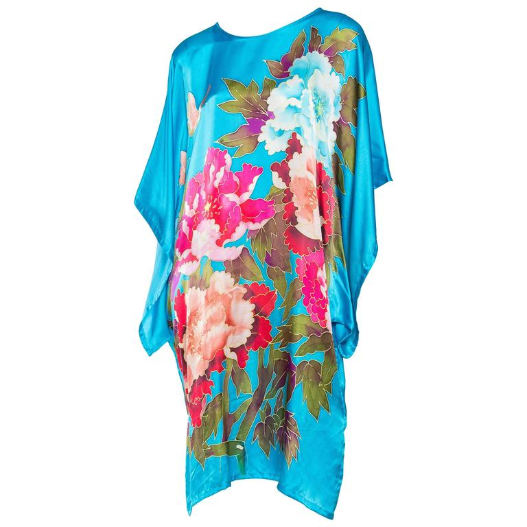 Gorgeous Hand Painted Silk Tunic Dress