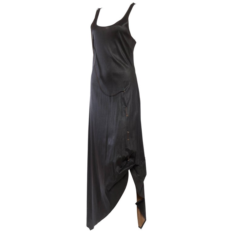 1990s Jean Paul Gaultier Waxed Jersey Dress