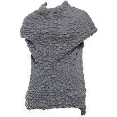 "1990S Alexander Mcqueen Grey Textured Knit Top From Fall 1999 ""The Overlook"" Co"