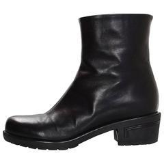 Giuseppe Zanotti Black Leather Ankle Boots Sz 38