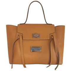 Valentino by Mario Valentino Camilla Leather Satchel in Cinnamon