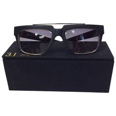 Phillip Lim Donahoue Mod Black Square Sunglasses