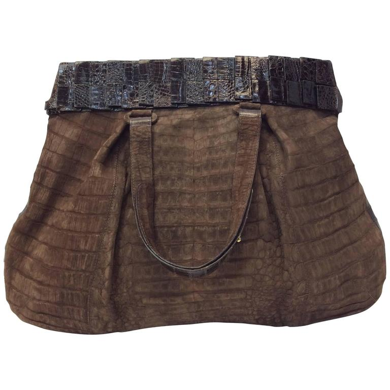 Nancy Gonzalez Genuine Crocodile Purse For Sale