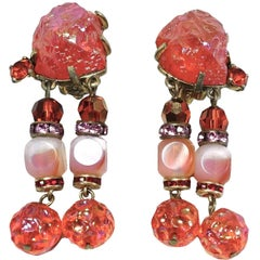 Schiaparelli Vintage Dangling Earrings
