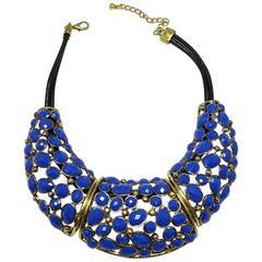 Wow! Cobalt Blue Oscar De La Renta Necklace